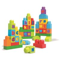 MEGA BLOKS - FIRST BUILDERS - SACOLA 40 PCS ABC DKX58 MATTEL