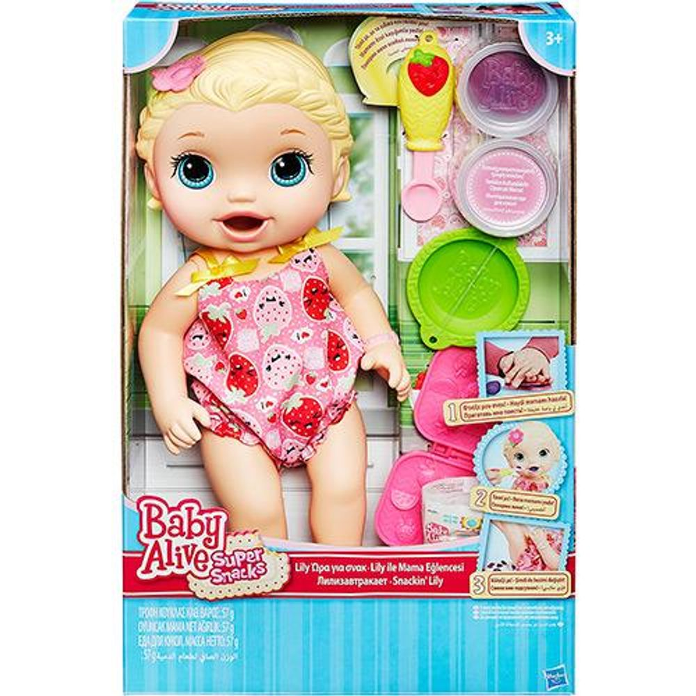 e10356fd72 Boneca Baby Alive Lanchinho - Loira HASBRO - Ciatoy