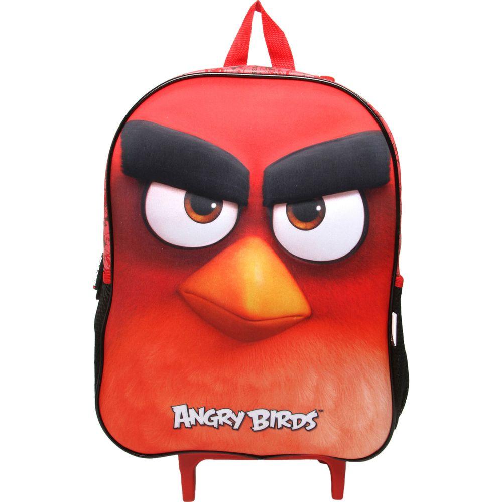 d4a0789df Mochilete Escolar 3D Angry Birds Poliester Vermelha - ABC801603 SANYA -  Ciatoy